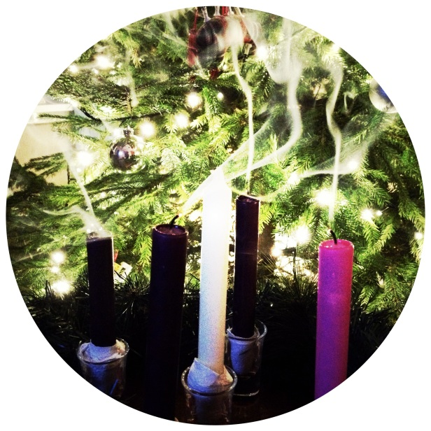 Smoky Advent Candles