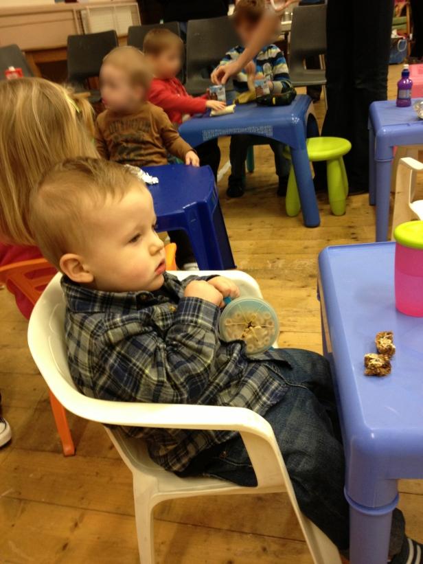 Eli Enjoying Snacks