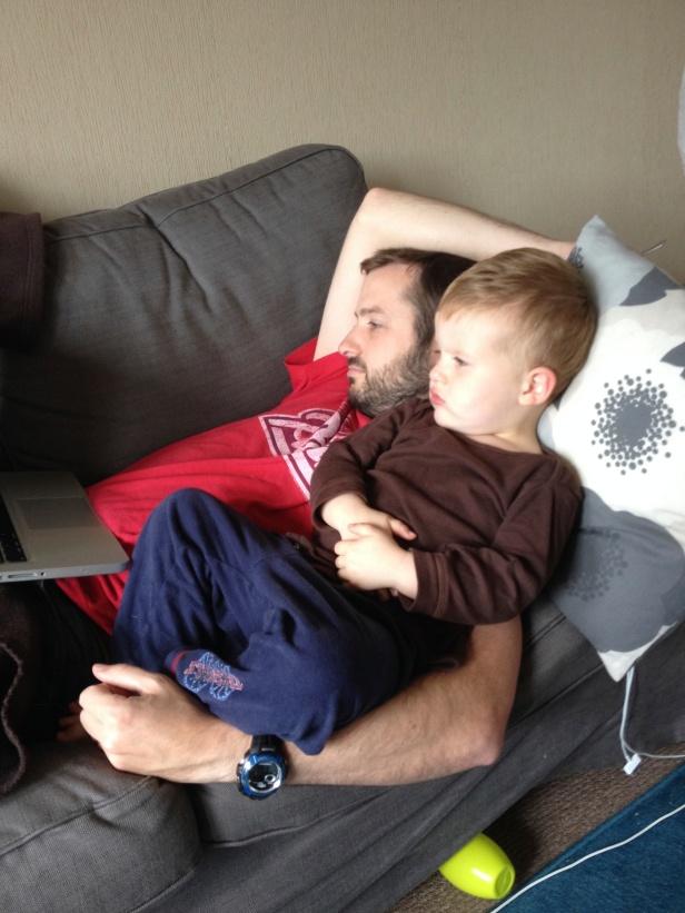 The Boys Watching Football